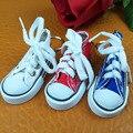 2017 Мини Привет Топ Холст Кроссовки, Теннисные туфли брелок синий розовый черный белый спортивная обувь брелок куклы смешные Новый Год подарки