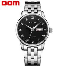 DOM Hombres mens relojes de primeras marcas de lujo mecánico impermeable de acero inoxidable reloj de Negocios M-57