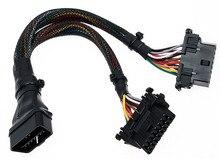 Original OBD2 OBDII 16pin masculino converter dois linha de extensão do sexo feminino condução do carro ECU conexão plug