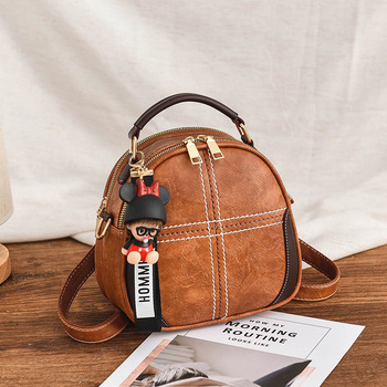2019 Fashion Women Sequins Soft PU Leather Backpack Girl Teenage Small Travel Mini Shoulder Schoolbags Purse Mochila Femina