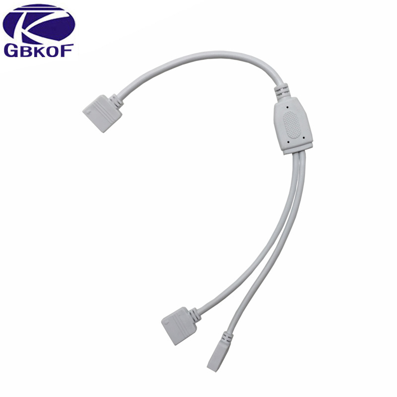 <font><b>Strip</b></font> Accessories 1 to <font><b>2</b></font> Female Connector Splitter RGB <font><b>LED</b></font> <font><b>Strips</b></font> extension Cable with 4 <font><b>pin</b></font> connector For 3528 5050 <font><b>LED</b></font> <font><b>Strips</b></font> image