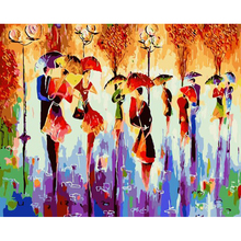 Crafts Diy Frameless Oil painting By Numbers Abstract Dancer Drawing Picture Hand Painted Acrylic Paint Home Decor