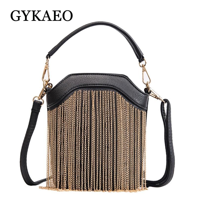 GYKAEO 2018 Winter Female Tassel Bucket Small Shoulder Bag Korean Style Fashion Shopping Women Messenger Bag Ladies Tote Bags 1