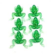 1pcs  fishing frog soft bait 5cm 5g worm bionic bait fishing lures Green Color