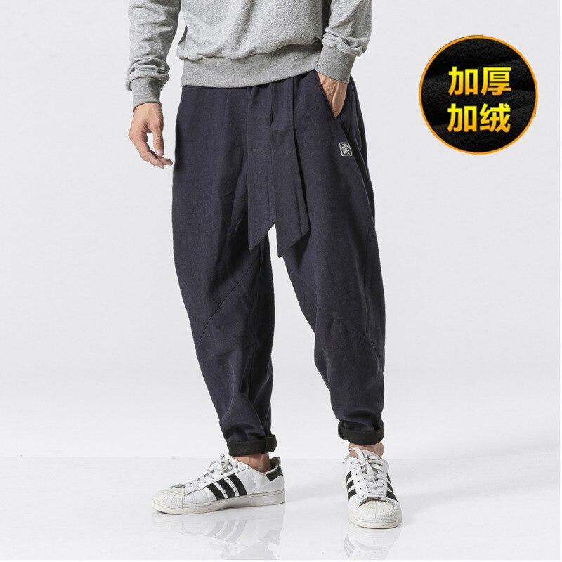 97b298d89e8 Штаны Для мужчин плюшевые толстые теплые узкие модные штаны 2018 осень и  Новинка зимы Trend уличной