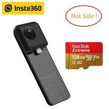 Insta360 nano s 4 k 360 vr câmera panorâmica de vídeo 20mp fotos para iphone x xs xr para iphone 7 8 6 series