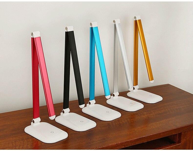 Новый LED в сложенном виде usb настольная лампа настольная/исследование/кровать/ноутбука/стол свет + Адаптеры питания 5 цветов бесплатная дост...