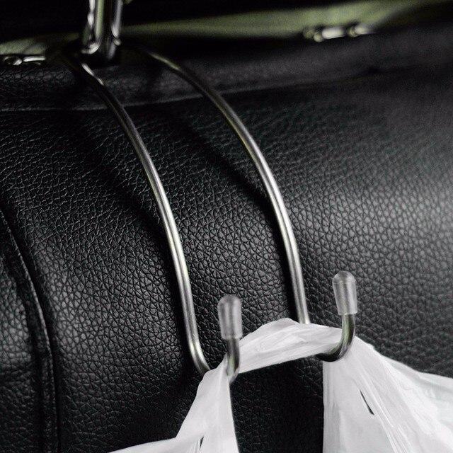 متعددة الوظائف المعادن السيارات سيارة مسند الرأس بالمقعد شماعات خطاف حقيبة حامل لحقيبة محفظة القماش البقالة تخزين السيارات السحابة كليب
