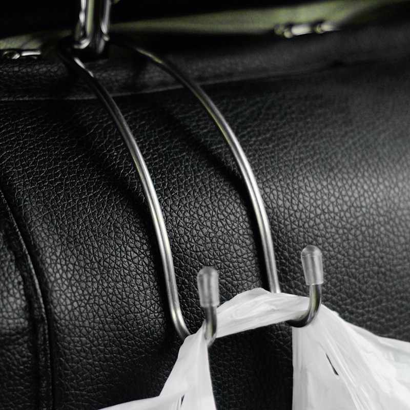 Multi-funcional De Metal Carro Auto Assento Encosto de Cabeça Gancho Saco Titular Gancho para Bolsa Saco de Pano de Supermercado De Armazenamento Auto Fastener clipe
