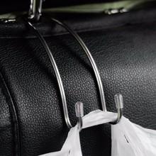 Wielofunkcyjny metalowy Auto zagłówek fotela samochodowego wieszak torba uchwyt z hakiem do torby torebka tkaniny do przechowywania produktów spożywczych klamra do samochodu klip tanie tanio IMEWE 0 1cm 11cm Stainless Steel Zapięcia i klipsem 0 02kg