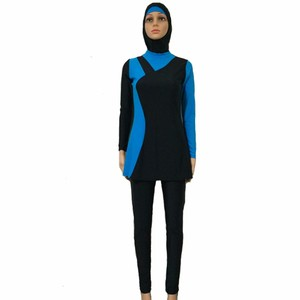 Image 3 - Wholesale muslim swimwear for women 12 pcs/lot islamic swimsuits from china DHL