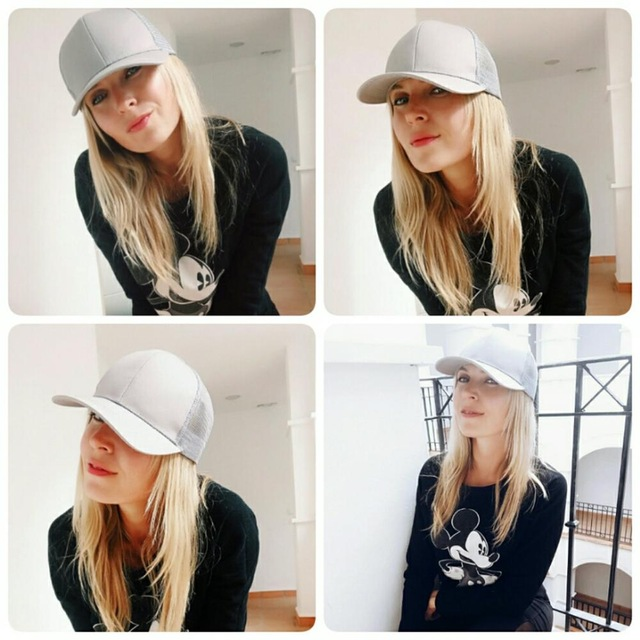 CC Ponytail Baseball Cap Women Messy Bun Baseball Hat Summer Mesh Trucker Hat Snapback Girl Glitter Ponytail Baseball Cap 2