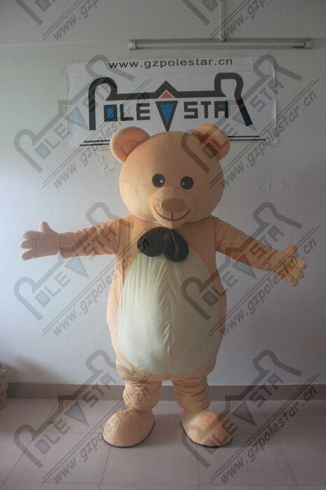 Costume de mascotte d'ours brun de tête d'eva de bande dessinée avec le ventilateur frais et les costumes d'ours en peluche de casque pour l'exposition ouverte