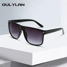 9a19058bde Oulylan los hombres de las mujeres de gran tamaño gafas de sol de diseñador  de marca grande Retro marco gafas de sol de mujer 20.