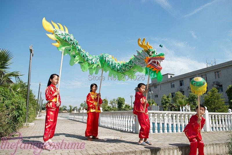 f093c7b79 children size CHINESE DRAGON DANCE 5.5M Folk Festival Celebration Costume 6  children to play