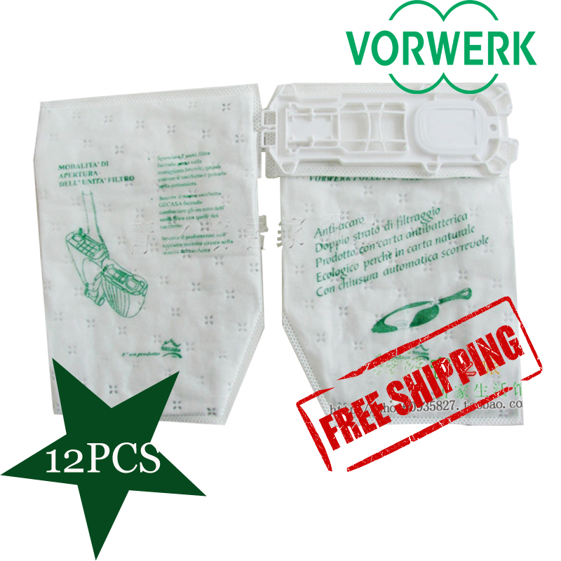 12 pieces /LOT  Allergy Eco Friendly Dust  Bag Bags  for  Vorwerk Kobold Vacuum Cleaner VK135 VK 136 5x vacuum cleaner dust bags filter bag for nilfisk extreme power allergy special p10 eco