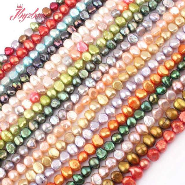 "5-7mm Freeform Freshwater Pearl Beads Natural Stone Beads For DIY Necklace Bracelats Earring Jewelry Making 14"" Free Shipping"