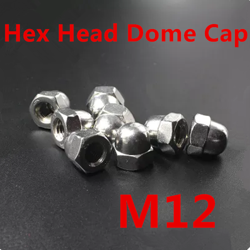 20PCS Metric M12 304 Stainless Steel Hex Head Dome Cap Protection Cover Nuts Fasteners 20pcs metric m12 304 stainless steel hex head dome cap protection cover nuts fasteners