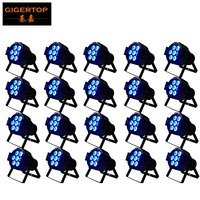 20 Pack 7x10W Led Par Light RGBW DMX control Mini aluminum Led Par Lights 4/8 channels cheap price beam angle 25 degree