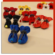Newest Small Dog Pet Suede Warm Cozy Non Slip Shoes Puppy Cat Booties Boots Sneaker D612