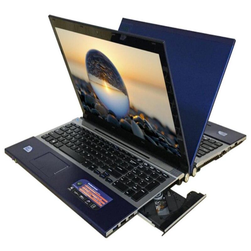 4 ГБ ОЗУ 120 ГБ SSD 15,6 Intel Core i7 cpu ноутбук ПК большой DVD RW металлический чехол клавиатура AZERTY итальянская испанская русская