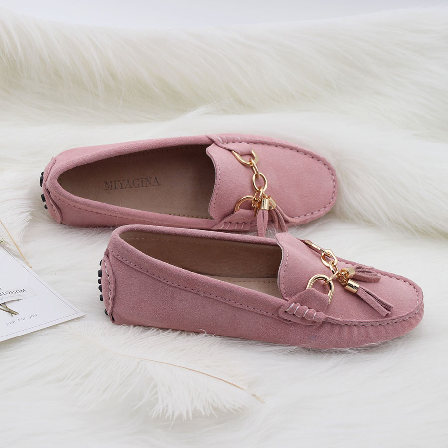 MIYAGINA 2018 New Arrival Casual Womens Shoes Genuine Cowhide Leather Women Loafers Moccasins Fashion Slip On Women Flats Shoes