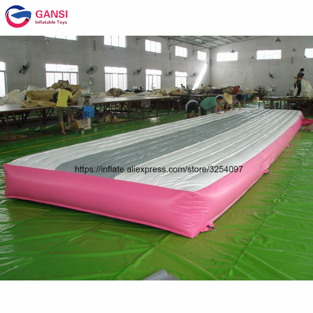 8x2x0.6m inflatable jumping trampoline mat,outdoor inflatable air track gymnastic mattress with 0.55mm pvc inflatable zorb ball race track pvc go kart racing track for sporting party