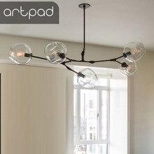 Artpad Creative Art Design Chandelier Nordic Branching Bubble 110 220V Pendant Lamp Dinning room Living Glass Ball Light
