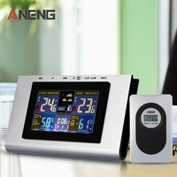 1 PC LCD Digital Temperature Tester 433MHz Wireless Weather Station Temp Alert Clock Thermometer Hygrometer