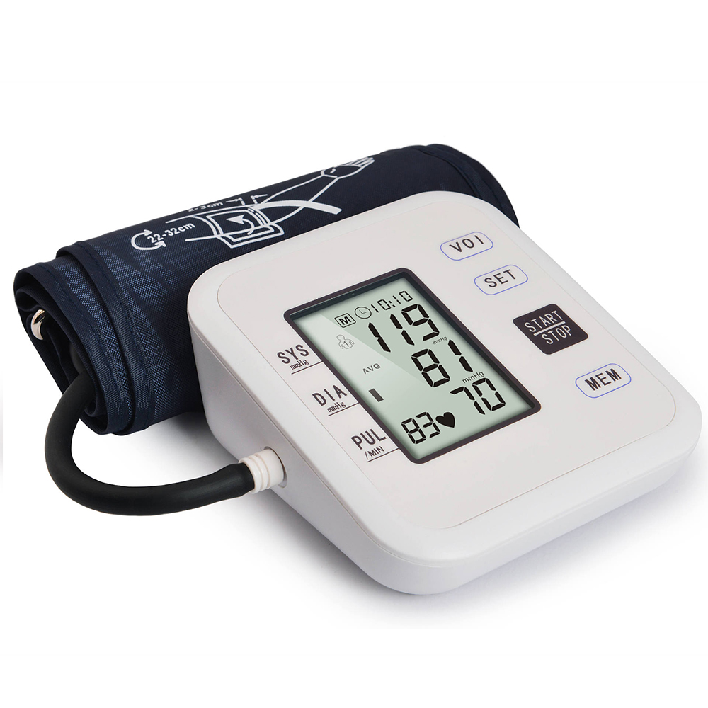 Medical Equipment Upper Arm Blood Pressure Monitor Digital Tonometer for Measuring Heart Beat Meter Machine Blood