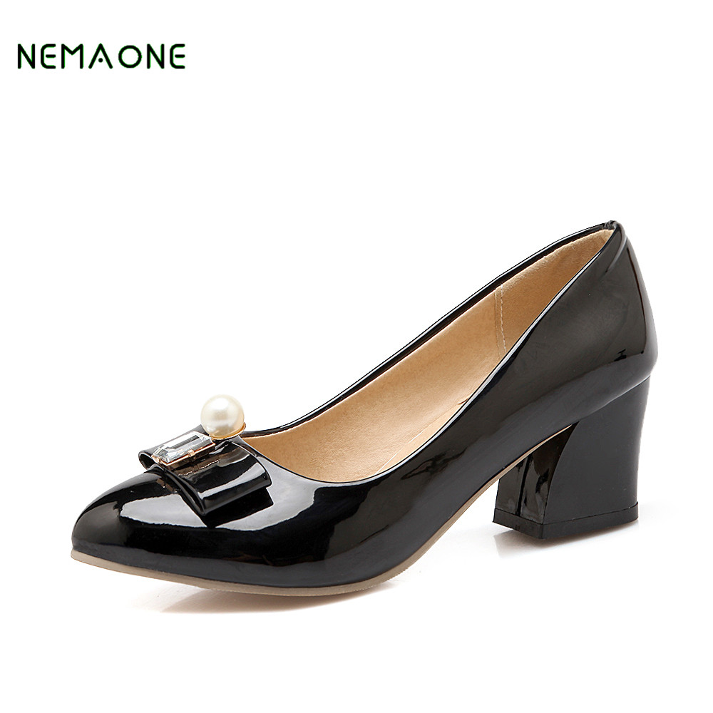 NEMAONE 2018 NEW high heel pumps Womans ankle-strap platform wedding bridal shoes pink high heels shoes women big size high