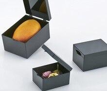 10 יח\חבילה 6.4x4.7x3.7 cm שחור אור מיגון תיבת אור פלסטיק תיבת תיבת דגימת קטן מיני אחסון תיבת סל