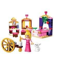 BELA 10433 Friends For Girl Sleeping Beauty Princess Bedroom Building Blocks Sets Girls Toys Compatible 41060 bela 10537 vet clinic building blocks toys best gift for girls compatible legoingly friends 41085 pet hospital
