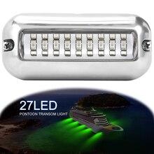 1 шт., 27 Светодиодный светильник для рыбалки, притягивающий рыбу, подводный светодиодный ночной заманивающий светильник для морской Понтонной лодки, рыболовные инструменты