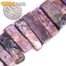 Жемчужные бусины AAA из натурального фиолетового чароита, плоские бусины для изготовления ювелирных изделий, 15 дюймов, сделай сам