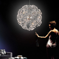 J best price mordern Droplight European Luxury Creative Dandelion LED Crystal Chandeliers Modern Minimalist K9 Crystal droplight