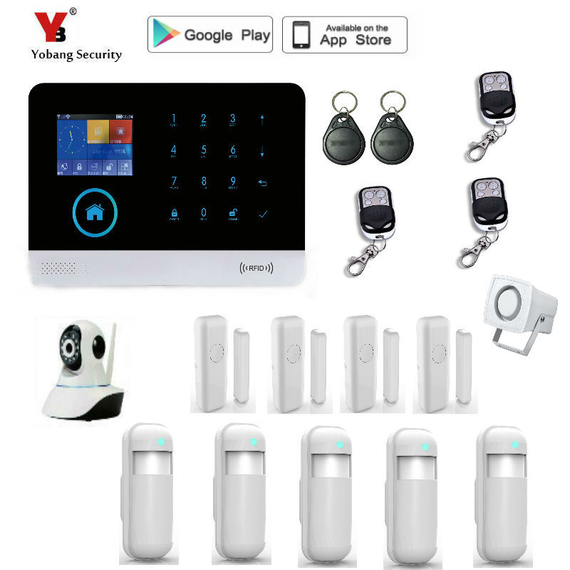 Yobang Security Wireless GSM WIFI Smart Home Security font b Alarm b font Systems Kits 10