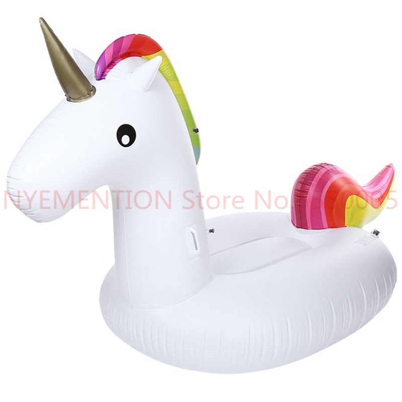 Inflatable Air Garden Sofa Giant Unicorn Floating Rideable Swimming Ring Float Environmentally Summer Water Air Raft 10pcs inflatable air garden beach sofa giant unicorn floating rideable swimming pool float environmentally summer water fun air raft