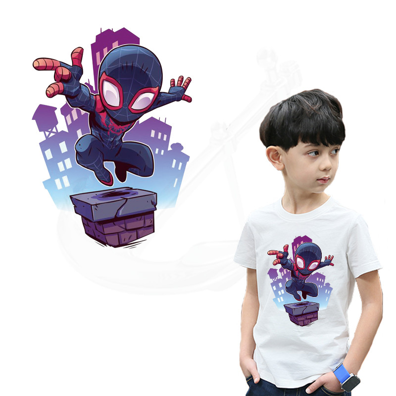 287760cdfa6a8 US $1.69 15% OFF| Hot Cartoon Spiderman Patch for clothing 26.5*19 cm child  Diy T shirt thermal transfer iron on patches-in Patches from Home & Garden  ...