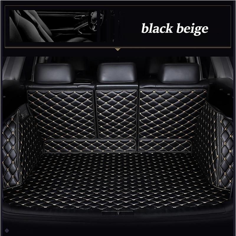 Leather car trunk mat for BMW F10 F11 F15 F16 F20 F25 F30 F34 E60 E70