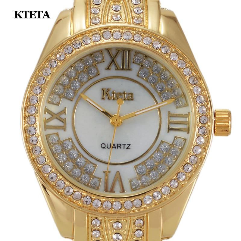 Reloj Mujer Gold Quartz Watch Ženy Slavné značky Luxusní Diamond náramkové hodinky Dámské hodiny pro dámy Hodinky Relogio Feminino