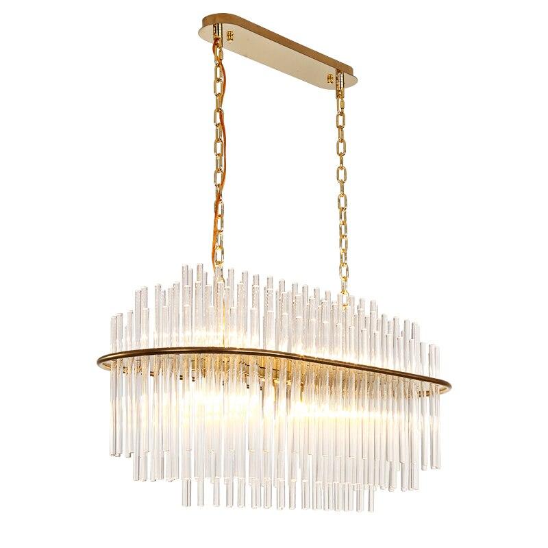 Jmmxiuz New Rectangular Pendant Lights Modern Lamp Ac110v: New Rectangular Design Crystal Chandelier Lighting Modern