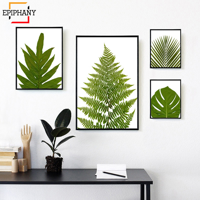 Tropical Botanical Prints Leaf And Giclee Art Canvas Painting Modern Wall Pictures Nordic Posters Living Room