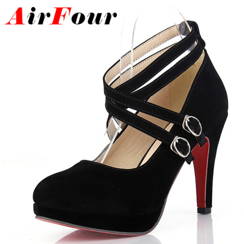 Online Get Cheap Strappy Black Platform Heels -Aliexpress.com ...