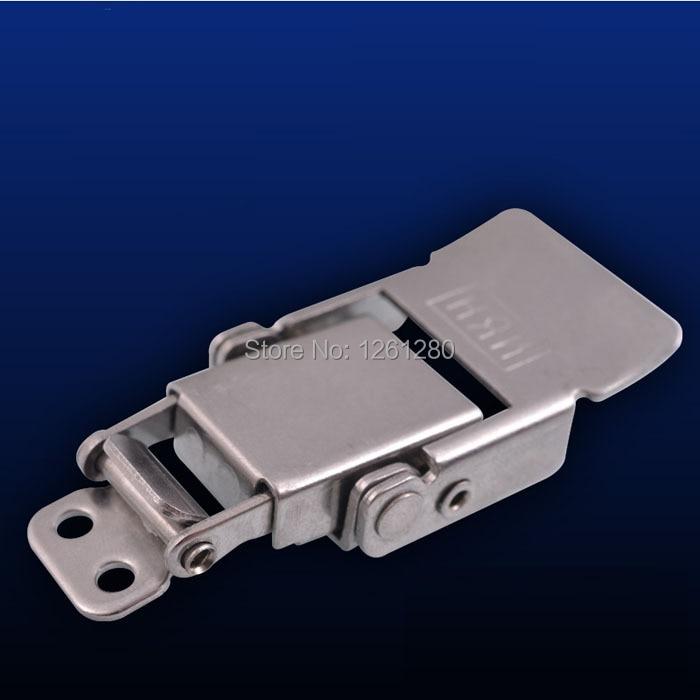 free shipping metal hasp Stainless steel spring lock box clas