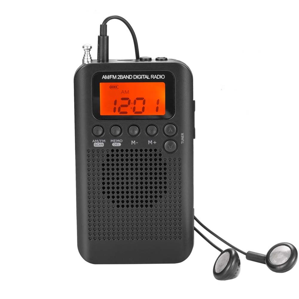 E3316-Pocket FM AM Radio-black
