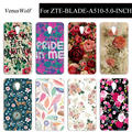 High Quality Cartoon Colored Plastic Phone Shell Case for ZTE Blade A510 SOLFTPU Case Cover for ZTE Blade A510 A 510 Capa Fundas