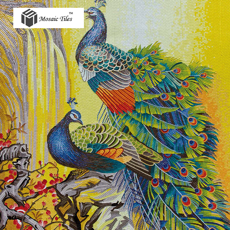 Tst Glass Tiles Italy Bisazza Style Peacock Parquet Mosaic