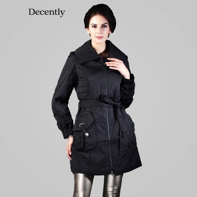 Decently 2014 новый ветер и теплое с капюшоном ветровка женское пальто мода 9549