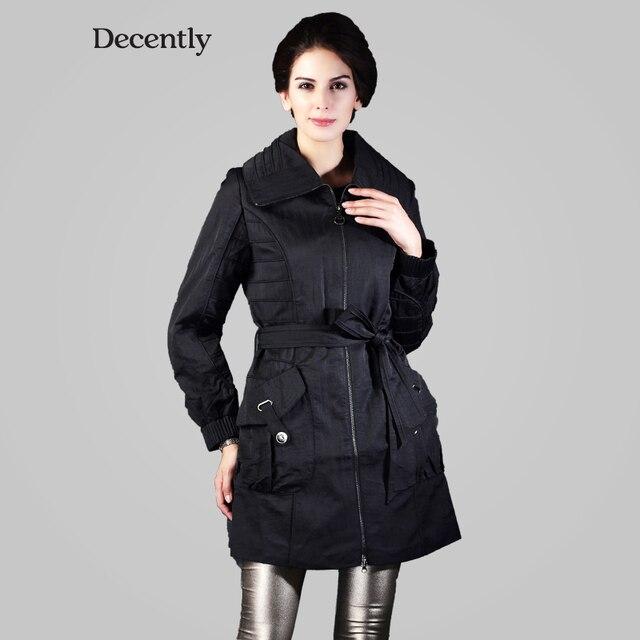 Decently 2016 new wind and warm hooded windbreaker women coat fashion 9549